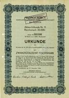 Aktie der Friedrich Boelck Margarinevertrieb AG