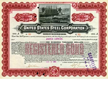 Share Certificate of United States Steel Corporation